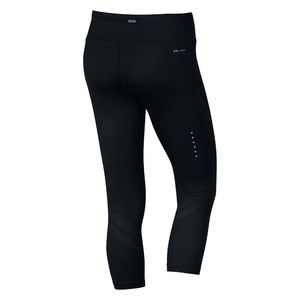 NEW! Nike Power Running Dri Fit Black Cropped Pant